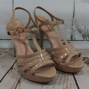 Your Party Shoes Reagan Nude NWOT